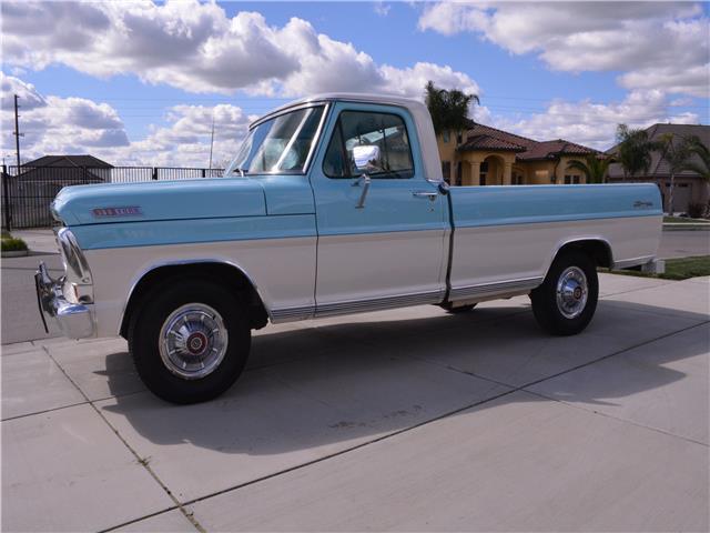 V8 Ford Ranger For Sale >> 1967 Ford F100 Ranger 43,544 Miles Blue and White Truck 352 CID 208 HP Manual for sale - Ford F ...