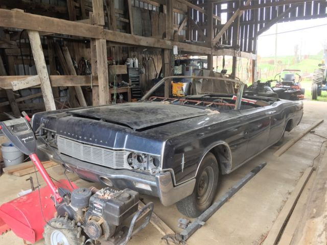 1967 lincoln continental convertible barn find ford rat. Black Bedroom Furniture Sets. Home Design Ideas