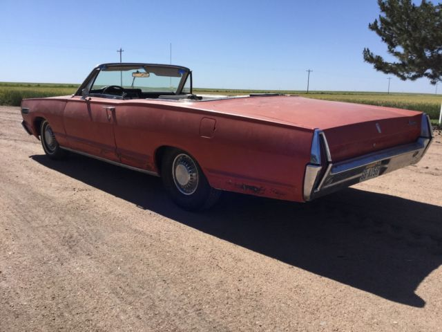 1967 Mercury Monterey Convertible Actual Original Red Car From Arizona 390 V8 For Sale