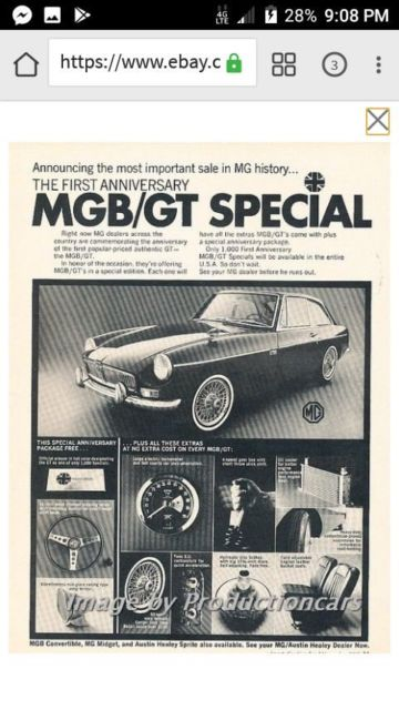 1967 mgb gt special for sale - MG MGB 1967 for sale in Miles