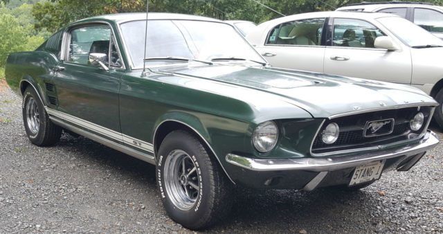 1967 Mustang Fastback A Code 289 4 Speed Dark Moss Green With Black Interior For Sale