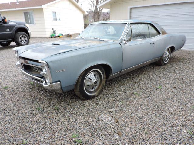 1967 Pontiac Gto 400 Project Car For Sale: 1967 Pontiac Gto 67 4 Speed Barn Find Rare Ram Air Project