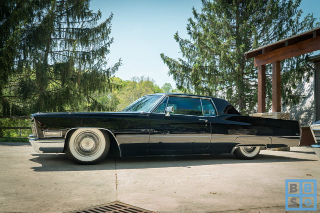 1968 cadillac calais coupe tuxedo black straight low mile for Miles motors asheville nc