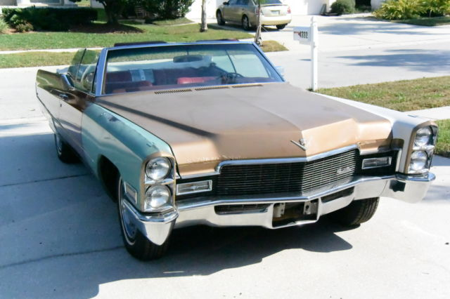 1968 cadillac de ville convertible for sale cadillac deville 1968 for sale in palm harbor. Black Bedroom Furniture Sets. Home Design Ideas