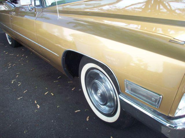 1968 Cadillac DeVille Convertible, V-8 Automatic, 2 Door 472 cu in
