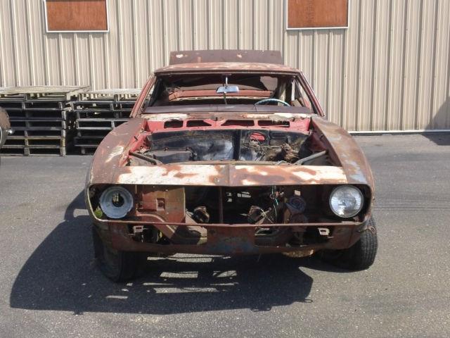 1968 Chevrolet Camaro project car with VIN needs restoration