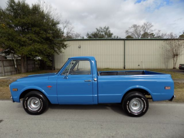 1968 chevy c 10 short bed 350 4 speed in showroom condition rust free fl truck for sale. Black Bedroom Furniture Sets. Home Design Ideas