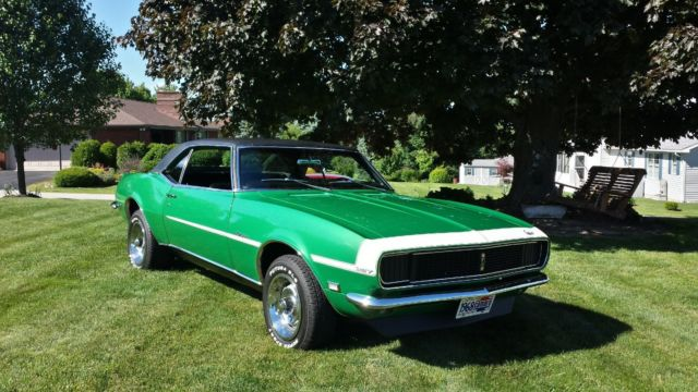 1968 Chevy Camaro Rs 327 Rallye Green For Sale Chevrolet