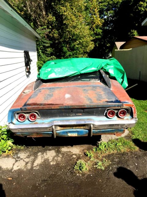 Charger Rt Dodge Charger R T Dodge Black Tires Muscle: 1968 Dodge Charger 383 B5 Blue, Great Car To Restore! For