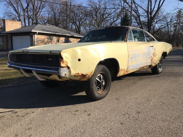 1968 dodge charger 68 charger factory yellow high performance magnum 383 330hp for sale dodge. Black Bedroom Furniture Sets. Home Design Ideas