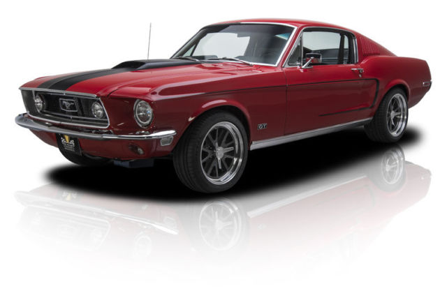 1968 ford mustang gt 485 miles rangoon red fastback 428 cobra jet v8 5 speed man for sale ford. Black Bedroom Furniture Sets. Home Design Ideas