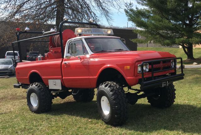 Gmc Sierra 2500 For Sale >> 1968 GMC 2500 3/4 ton pickup Brush Fire Truck / Monster ...