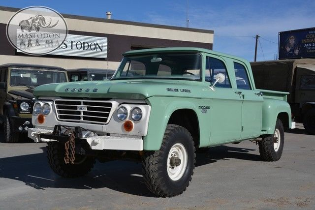 1968 green 4x4 4 wheel drive truck crewcab restoration forestry power wagon for sale dodge. Black Bedroom Furniture Sets. Home Design Ideas