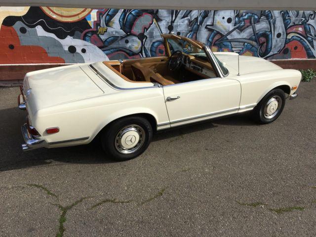 1968 mercedes benz 280sl 0 miles tan convertible for sale for Mercedes benz 1968 for sale