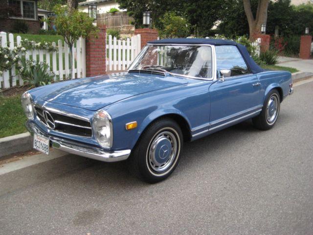 1968 Mercedes Benz 280sl Paa Convertible 4 Sd Manual Sl W113 Hardtop