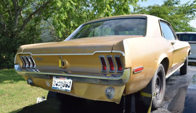1968 Mustang 6 Cylinder For Sale