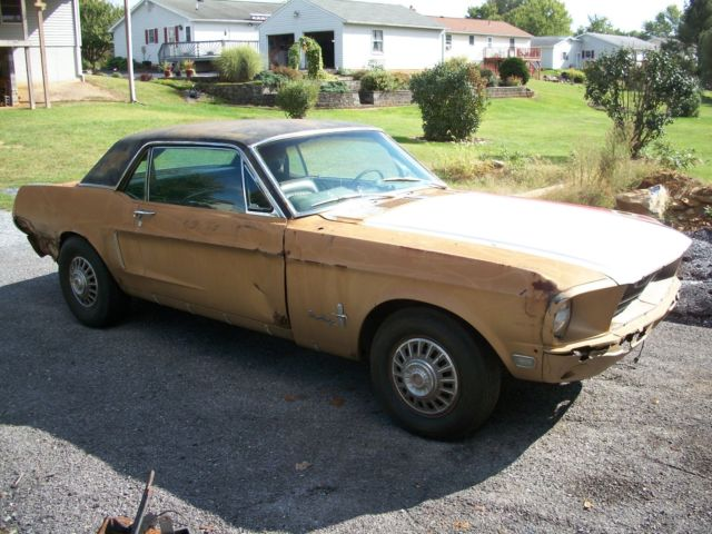 1968 Mustang Coupe Project Car For Sale