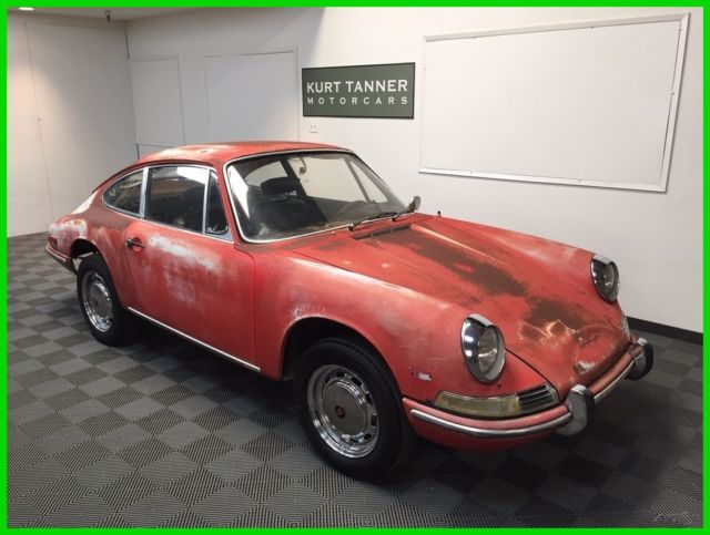 1968 porsche 912 coupe red black 5 speed very original. Black Bedroom Furniture Sets. Home Design Ideas