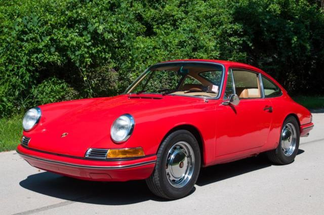 1968 porsche 912 polo red chrome wheels service records. Black Bedroom Furniture Sets. Home Design Ideas