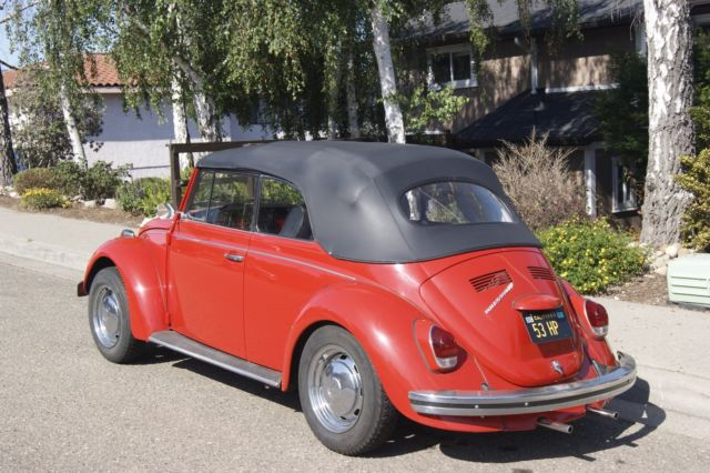 1968 vw beetle convertible california original car 1 family owned no reserve for sale. Black Bedroom Furniture Sets. Home Design Ideas