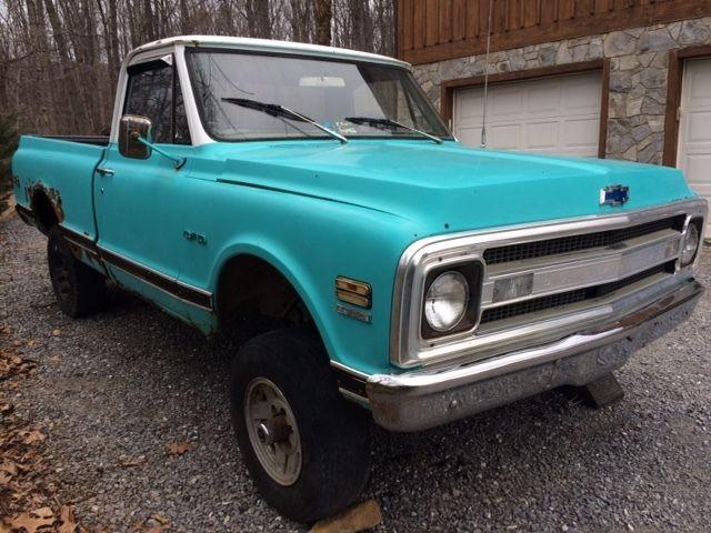 1969 c10 chevrolet truck 4x4 shortbed for sale - Chevrolet ...