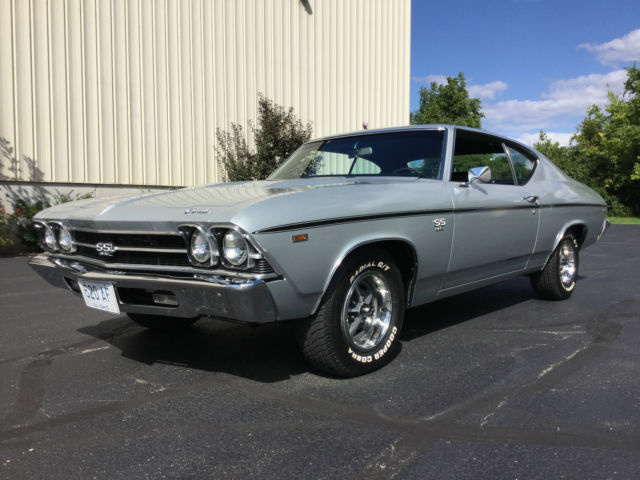 separation shoes 92e7f 9bbaa 1969 Chevelle SS 396 4 Spd, Real Documented, Cortez Silver ...