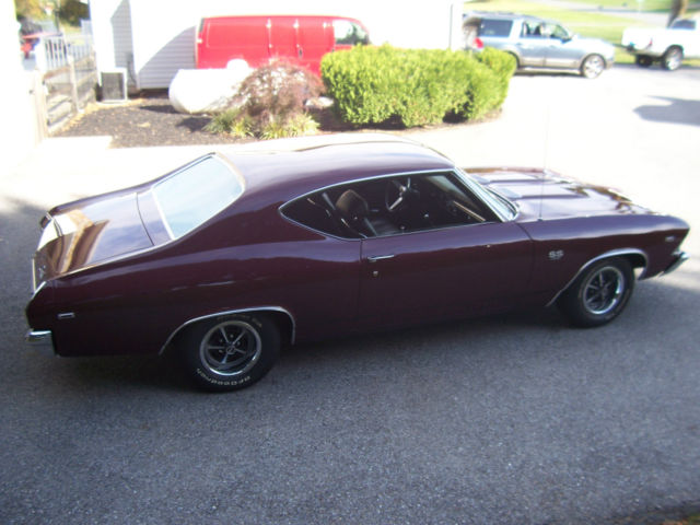 1969 CHEVELLE SS 396 4 SPEED TWO OWNER RUST FREE BLACK PLATE