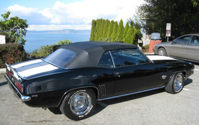 1969 Chevrolet Camaro Black Pro touring added SS RS