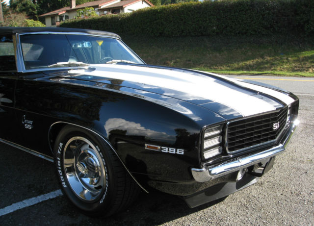 1969 chevrolet camaro black pro touring added ss rs convertible 69 for sale chevrolet camaro. Black Bedroom Furniture Sets. Home Design Ideas