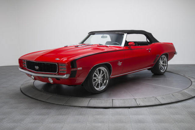 1969 chevrolet camaro rs ss 349 miles torch red convertible 427 v8 5 speed manua for sale. Black Bedroom Furniture Sets. Home Design Ideas