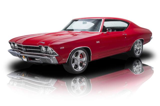 1969 Chevrolet Chevelle 85 161 Miles Tornado Red Hardtop