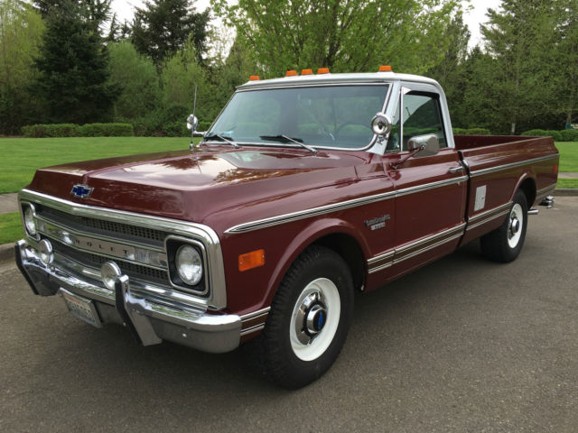 1969 Chevy C20 2WD Big Block Factory 396 V8 Eng' Long Bed Only 16,210 Orig Miles for sale ...
