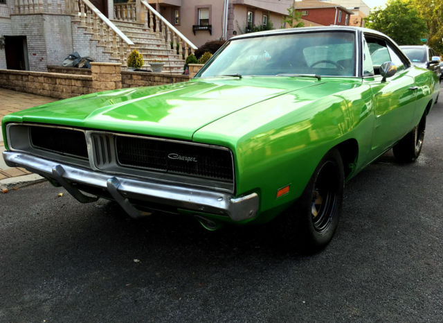 1969 Dodge Charger Matching No Reserve F6 Green