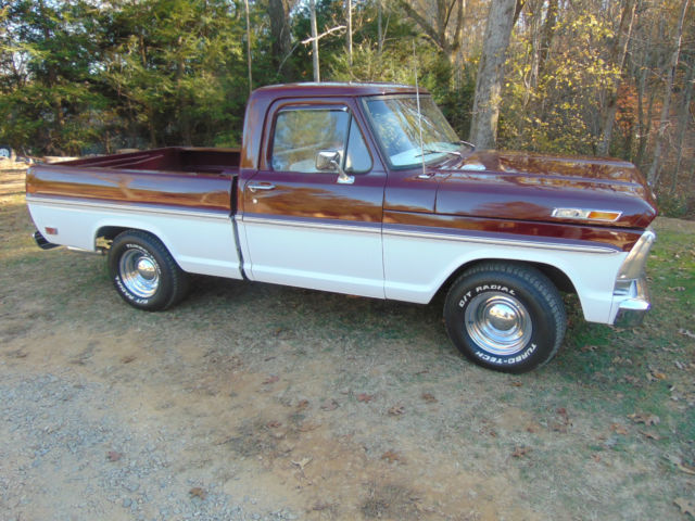 1969 ford f 100 short bed truck completely restored no. Black Bedroom Furniture Sets. Home Design Ideas