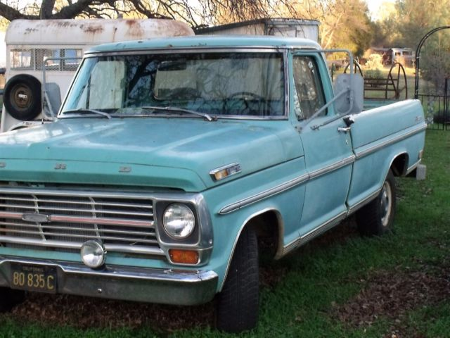 1969 ford f100 ranger pickup truck long bed standard cab. Black Bedroom Furniture Sets. Home Design Ideas