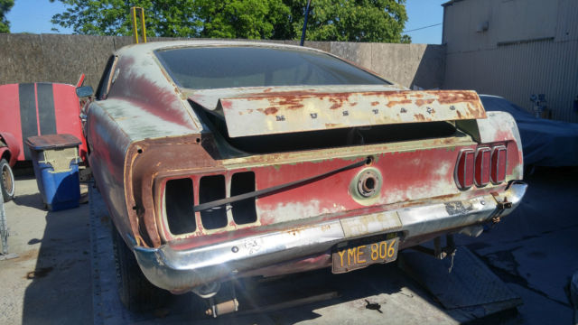 1969 ford mustang mach 1 m code black plate project car clean california title for sale ford. Black Bedroom Furniture Sets. Home Design Ideas