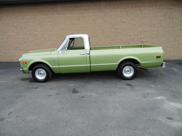 1969 green chevrolet c10 350 v8 manual with 57 749 miles for Chevy v8 motors for sale