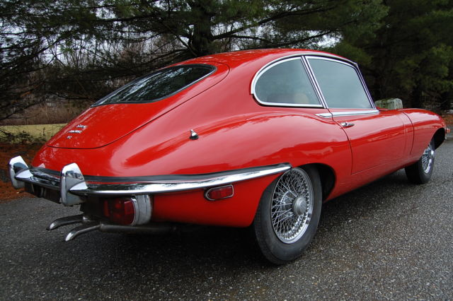 174376 1969 Jaguar Xke E Type 22 Coupe Automatic Red With Tan Interior on jaguar xke frame