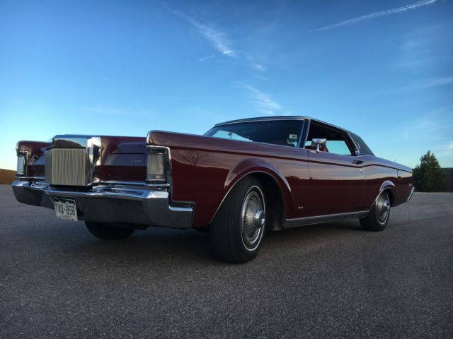 1969 lincoln continental mark iii 460 red leather for sale lincoln mark series 1969 for sale. Black Bedroom Furniture Sets. Home Design Ideas
