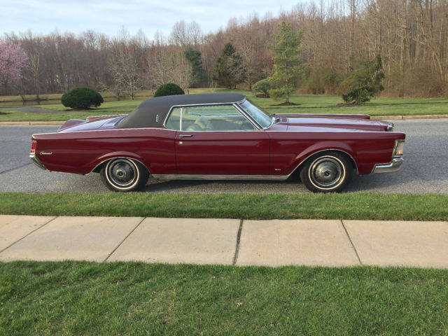 1969 lincoln continental mark iii royal maroon white learher interior mk 3 for sale lincoln. Black Bedroom Furniture Sets. Home Design Ideas