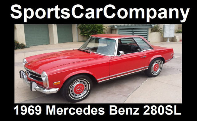 1969 mercedes benz 280 sl restored rust free 2 owner for Mercedes benz la jolla