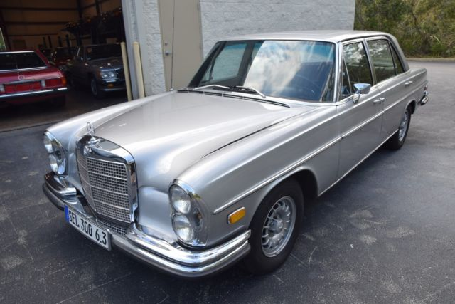 1969 mercedes benz 300sel 6 3 rare sunroof a c 180g silver for Mercedes benz leather