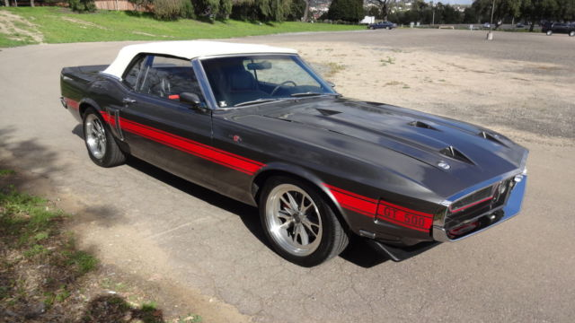 1969 mustang convertible gt 500 shelby clone for sale ford mustang 1969 for sale in carlsbad. Black Bedroom Furniture Sets. Home Design Ideas