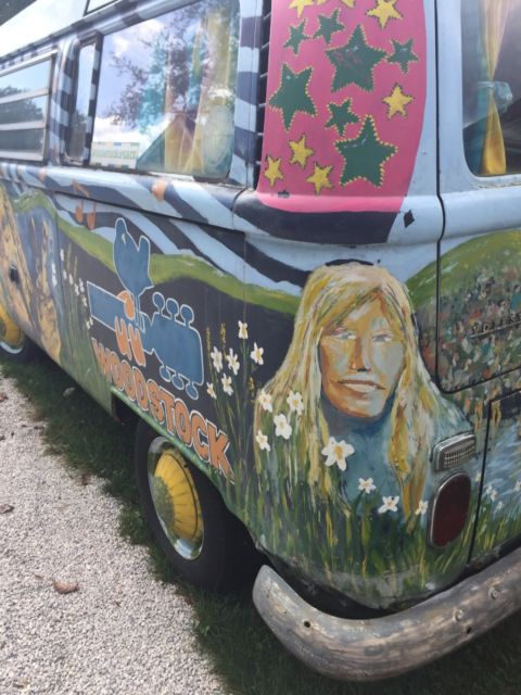 1969 Vw Volkswagen Van Bus Woodstock Theme Hand Painted