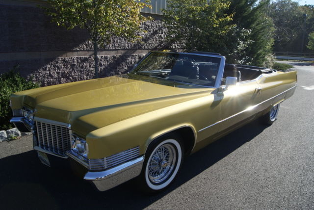 1970 cadillac deville convertible collector quality car must see byzantine gold for sale. Black Bedroom Furniture Sets. Home Design Ideas