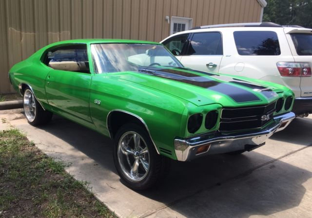 1970 chevelle malibu SS hot rod muscle car project barn find roller