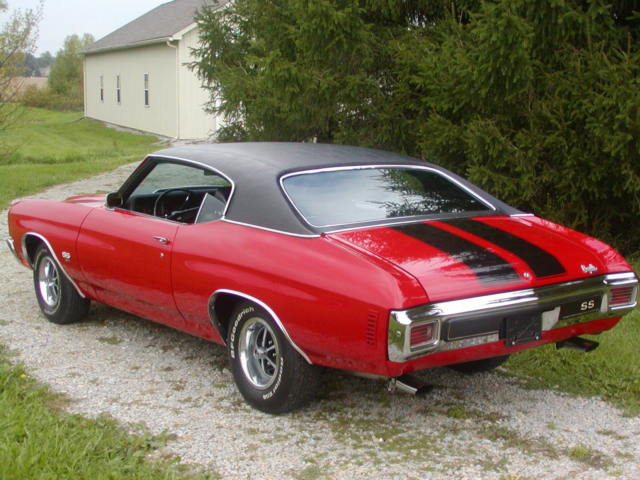 1970 Chevelle Ss 454 Auto Air Low Mileage Black Vinyl Top Red Black Stripes For Sale Chevrolet Chevelle 1970 For Sale In Westfield Indiana United States