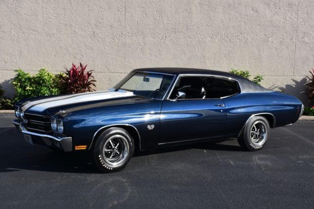 1970 Chevrolet Chevelle SS 454 4-Speed 450hp PS PB 0 Dark Blue Coupe
