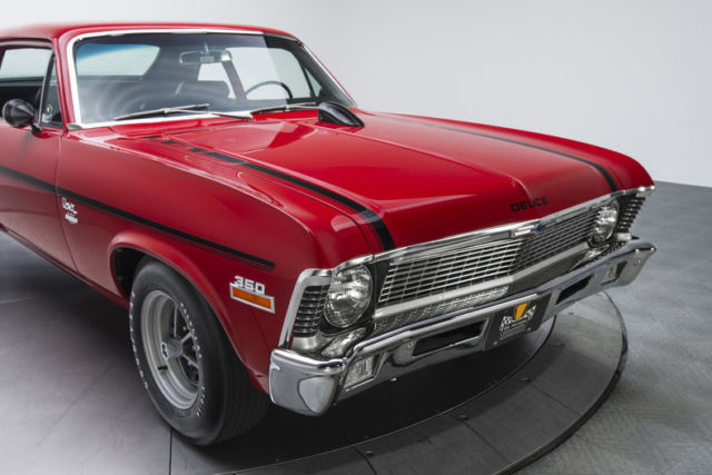 1970 chevrolet nova 23422 miles cranberry red sedan 350 lt1 3 speed automatic for sale. Black Bedroom Furniture Sets. Home Design Ideas