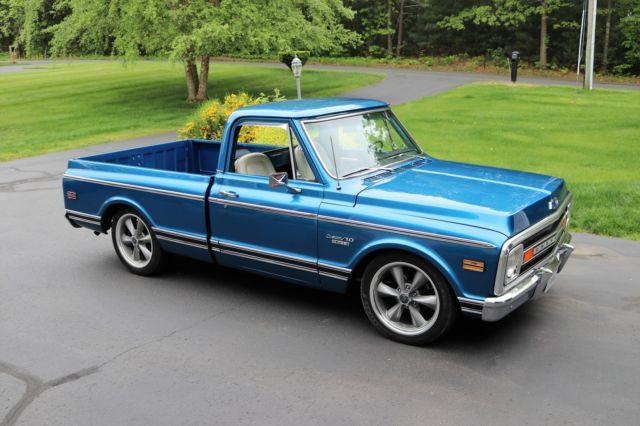 1970 chevy c 10 pickup truck short bed big block blue 20 wheels hot rod for sale. Black Bedroom Furniture Sets. Home Design Ideas